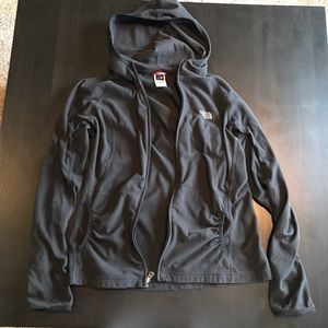 North Face light jacket in black and size small